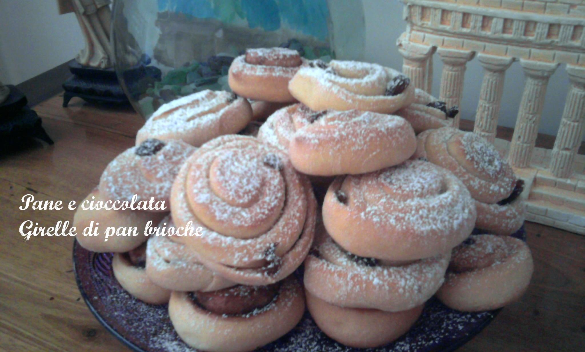 Girelle di pan brioche